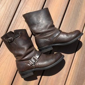 Worn in newly refurbished Frye Boots